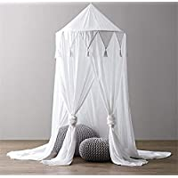 Kids Bed Canopy,Hanging Mosquito Net for Baby Crib Nook Castle Game Tent Nursery Play Room Decor