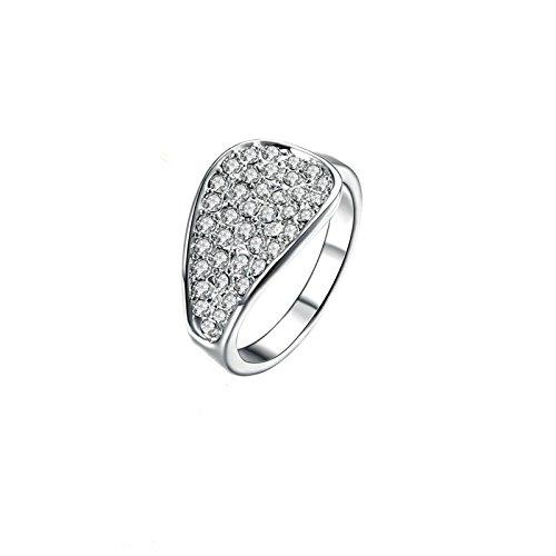 Coniea Ringe Vergoldet Damen Ring Bering Fan CZ Weiß Größe 54 (17.2)