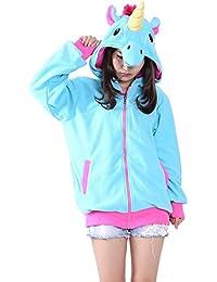 KiKa Monkey Cosplay Unicorn Animal Hoodie Veste Pull Costume Parti