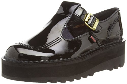Kickers Women's Kick T Stack Patent Mary Jane Flats - Black (Black),...