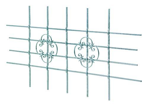 GAH-Alberts 553555 Fenstergitter Salzburg - Fenster-Gitter für außen als Einbruchschutz - feuerverzinkt - 1680 x 840 mm, kürzbar bis 1090 x 510 mm -