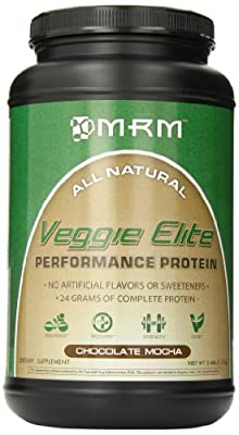 MRM - Veggie Elite Performance Protein, 24 Grams of Flavorful Plant-Based Protein Allergen-Free, Alternative to Whey, Vegetarian & Vegan Approved (Chocolate Mocha, 2.45 lbs) from MRM