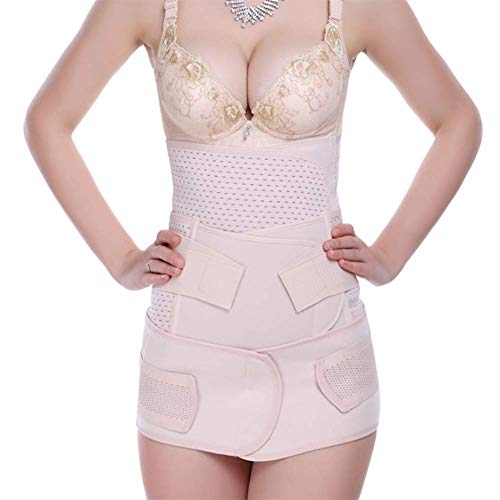 Eachann-Hsi Gürtel Shaper Taillentrainer aus elastischem Mesh, Atmungsaktiver Gürtel nach der Geburt, postnatale Erholung für die Mutterschaft Bauchgürtel Wickelbänder, Weiß,L -