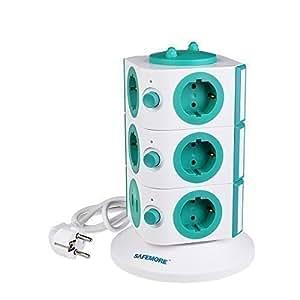 Safemore tour multiprise multiprise adaptateur multiprise - Multiprise 10 prises ...