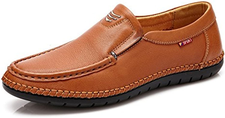 Lederschuhe Loafer Classic Herren Echtleder Schuhe Slip on Atmungsaktive Weiche Flache SohleLederschuhe Loafer Classic Echtleder Atmungsaktive