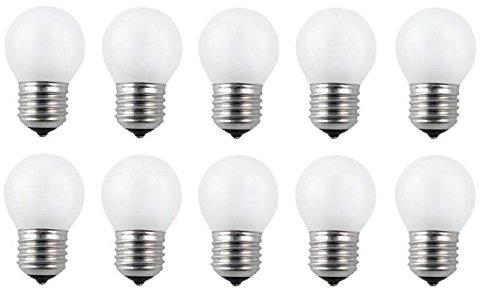 10 x Glühlampe Glühbirne Tropfen Kugel E27 40W 40 Watt matt 230V Leuchtmittel