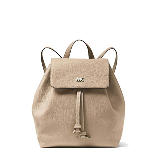 Michael Kors LEATHER JUNIE MD FLAP BACKPACK, Zaino, Pelle, Rosa, 30T8TX5B2L, 26X30X16CM