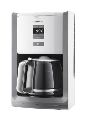 Grundig KM 7280w Kaffeemaschine (programmierbar,Gourmet, 1000 Watt, 1,8 l), weiß
