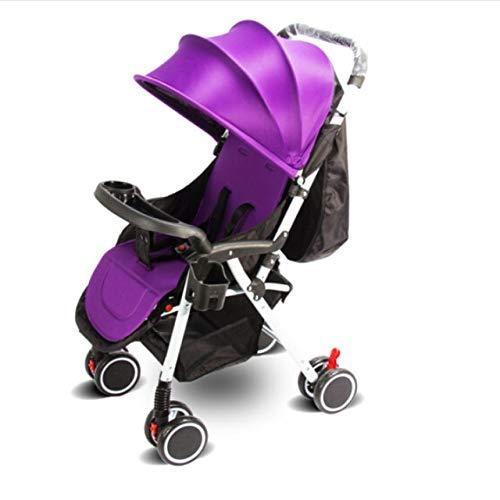 gaoyuehong Kinderwagen Buggy/Dreirad Klein Zusammenfaltbar, Einhand-Faltmechanismus, 4 Räder, Ultraleicht,B