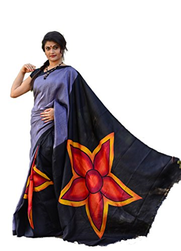 Bishnupuri Pure Katan Silk Saree / Hand Painted Best Quality Pure Silk...