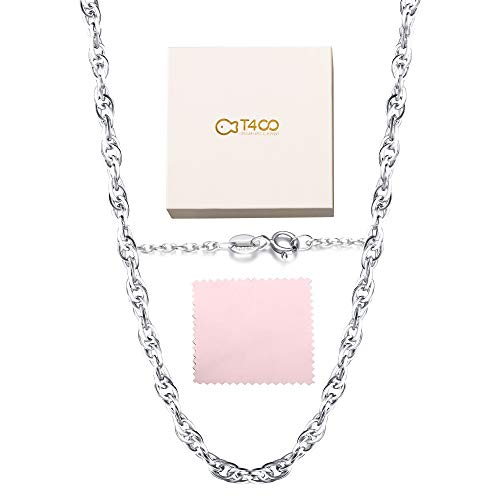 T400 Jewelers 925 Sterling Silber 1.7mm Seil Kette Halskette Spring Clasp, 76cm