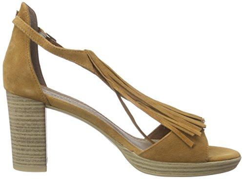 28340, Sandales Bout Ouvert Femme - Marron - Braun (Camel 310), 40s.Oliver
