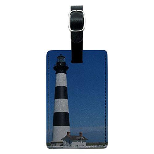 Bodie Island Lighthouse North Carolina Leder Gepäck ID Tag Koffer Handgepäck