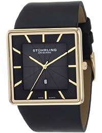 Stuhrling Original 342.33351 - Reloj de cuarzo para hombre, con correa de cuero, color negro