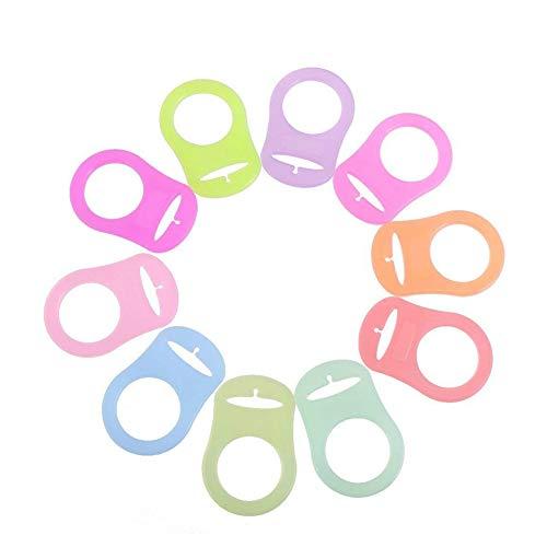 Silikon-Adapter für Babyschnuller, verschiedene Farben, 10 Stück