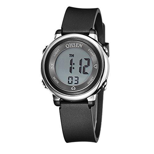 OHSEN Sportuhren Sports Digitale Uhren für Kinder Studenten Casual beständig wristwatches-black