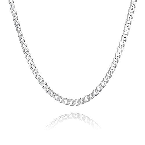 STERLL Herren Hals-Kette Sterling-Silber 925 50cm Ohne Anhänger Schmuck-Beutel die Besten Männer Geschenke