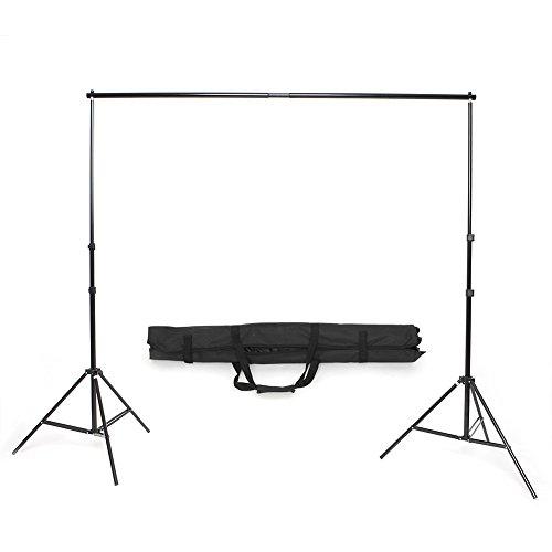 MVPOWER Profi Studio Hintergrundsystem Fotostudio Teleskop Fotoständer Kit inkl. Softbox (2X3M Stativ)