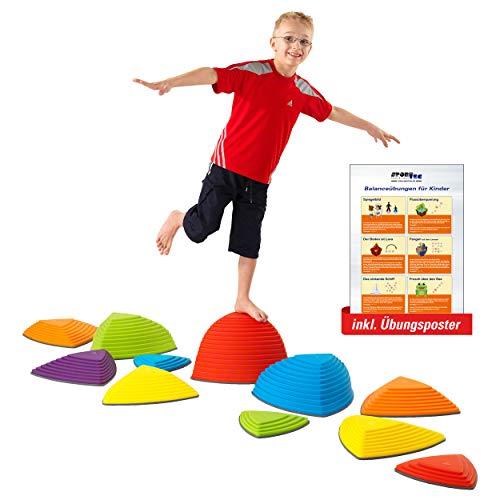 Sport-Tec Hügelkuppen-Set, Balance Spiel, Balancierspiel, Kinder, Kindergarten, 11-tlg.
