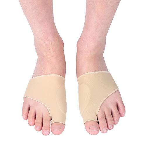 Zerone Bunion Corrector Big Toe Glätteisen Bunion Relief Sleeve mit Gel-Relief-Pads, Bunion Sleeve Protector Glätten gebogener Zehen Realign-Nachtzeit Hallux Valgus Foot Health Improving -