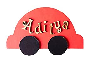 Kids Room Car Nameplate (red)