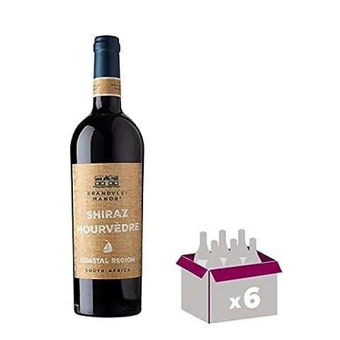 Vin rouge - BRANDVLEI Shiraz Mourvedre Vin d'Afrique du Sud - Rouge - 75 cl x 6