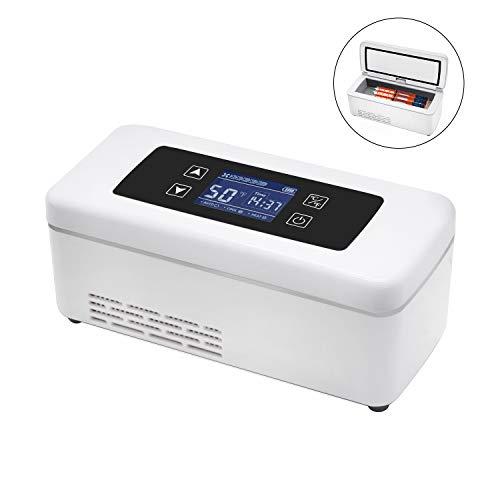 CGOLDENWALL15Stunden Tragbare Elektrische Insulin-Kühlbox丨Isolierte Intelligente Mini-Kühlschrank丨2-8℃Thermostat unter 26° C丨175x56x26mm mit Heiß&Kühl Duale Kontrol