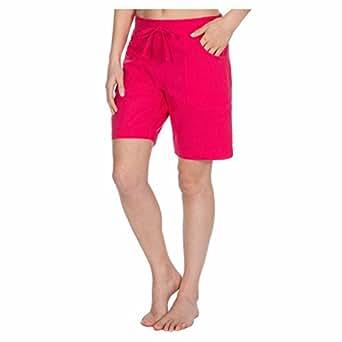 Metzuyan Ladies Linen Blend Shorts - Summer Hot Pants Hot Pink Size 10