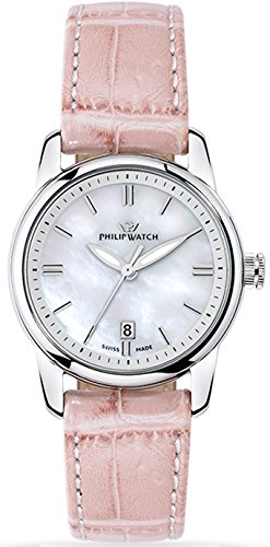 Philip Watch R8251178507 - Orologio da polso Donna, Pelle, colore: Rosa Scuro