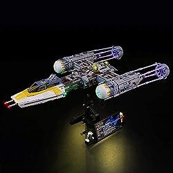 LIGHTAILING Jeu De Lumières pour (Star Wars Y Wing Starfighter) Modèle en Blocs De Construction - Kit De Lumière A LED Compatible avec Lego 75181(Ne Figurant Pas sur Le Modèle)