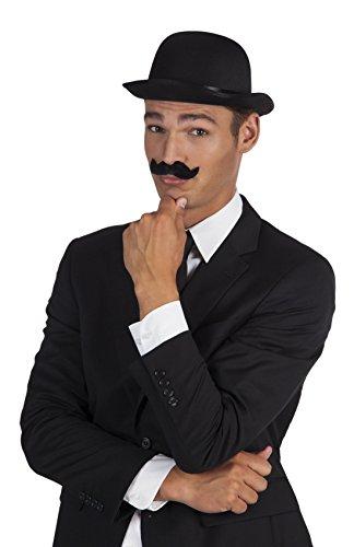 Offizier Ein Kostüm Gentleman Und Ein (Halloweenia - Karnevalszubehör Schnurrbart Gentleman,)