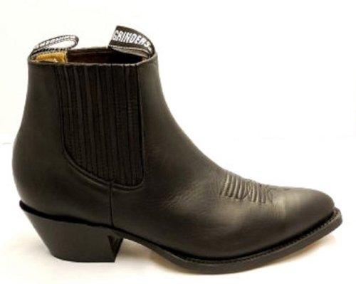 Grinders , Bottes de cow-boy femme Noir - noir