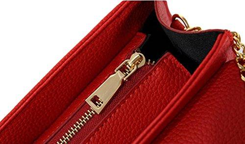 Arbeiten Sie Handtaschen-Schulter-Kurier-Stadtstreicherin-Kette Kleines Quadrat-Paket Brown