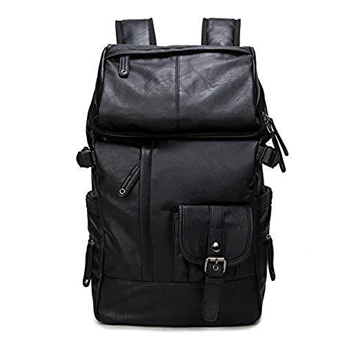 Rucksack PU-Leder Männer Rucksack Notebook-Tasche PU15 Zoll, schwarz, 15 Zoll