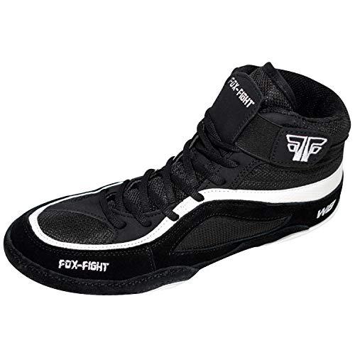 FOX-FIGHT W8 Ringer Wrestling Schuhe aus Wildleder Professionelle Hochwertige Qualität 41 schwarz