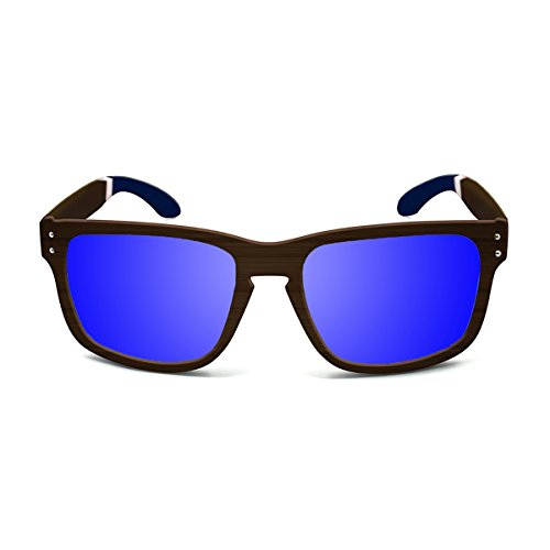 Paloalto Sunglasses Pacifica Sonnenbrille Unisex Erwachsene, Bamboo Brown/Blue/White