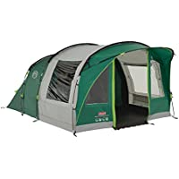 Coleman Tent Rocky Mountain 5 Plus, 5 man tent with BlackOut Bedroom Technology, Festival Essential, 2 bedroom Family Tent, 100% waterproof Camping Tent with sewn in groundsheet