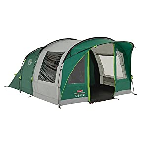 41ofUkmAQjL. SS300  - Coleman Rocky Mountain 5 Plus Family Tent, 5 Man Tent, Blocks up to 99 Percent of Daylight, 2 Bedroom Family Tent, 100…