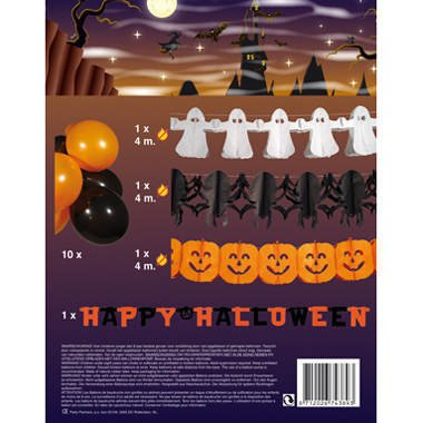 lloween Party Set Luftballons Girlanden (Decorazioni Di Halloween)