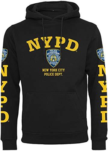 d5a441d3 MERCHCODE Herren NYPD Logo Hoody Kapuzenpullover Black S