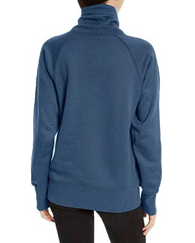 Kidsform Femmes de Long Hoodie Sweatshirt Manche Longue Pullover Sport Jumper Tops Hauts Bleu FBA