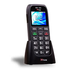 TTfone Mars TT400 - Big Button Candy Bar Mobile Phone - Easy to Use Simple - SOS Button - UK SIm Free - Black