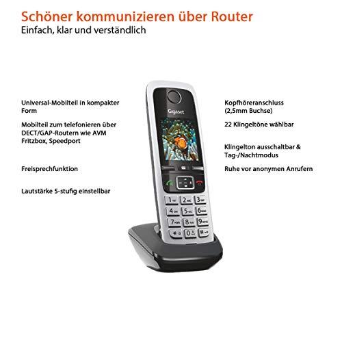 Gigaset C430HX Telefon – Schnurlostelefon / Mobilteil – mit TFT-Farbdisplay – für DECT / CATiq Router – Freisprechfunktion – IP Telefon – Schwarz - 2