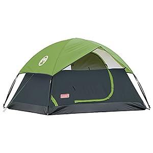 Coleman Sundome Camping Green Tents