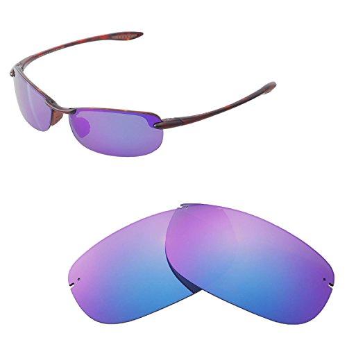 Walleva Ersatz-Objektive für Maui Jim Makaha Sonnenbrille, Damen Unisex, Purple - Polarized