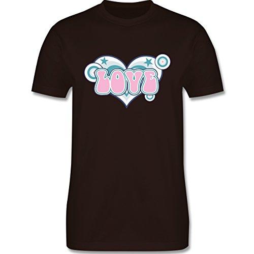 Romantisch - Love - Herren Premium T-Shirt Braun