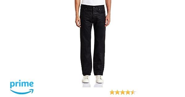 448c8413211 G-Star Men's Attacc Straight Fit Jeans - Black (Medium Aged 6578-071), 38W  x 34L: Amazon.co.uk: Clothing