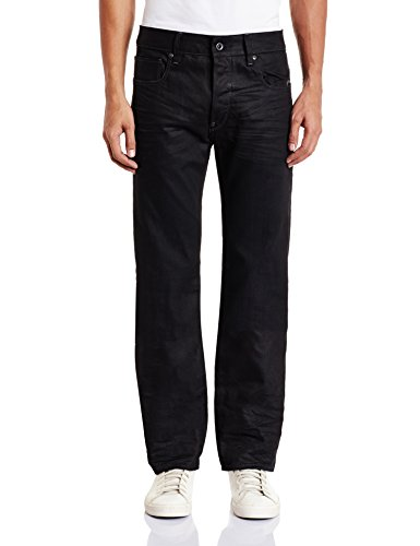 G-STAR RAW Herren Jeanshose Attacc Straight Schwarz  (Medium Aged 6578)