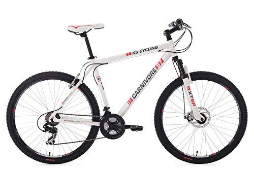 KS Cycling Fahrrad Mountainbike MTB Hardtail Carnivore, Weiß, 27.5 Zoll