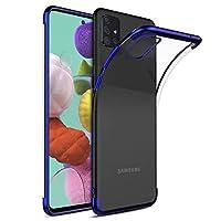 Microsonic Samsung Galaxy A71 Kılıf Skyfall Transparent Clear Mavi